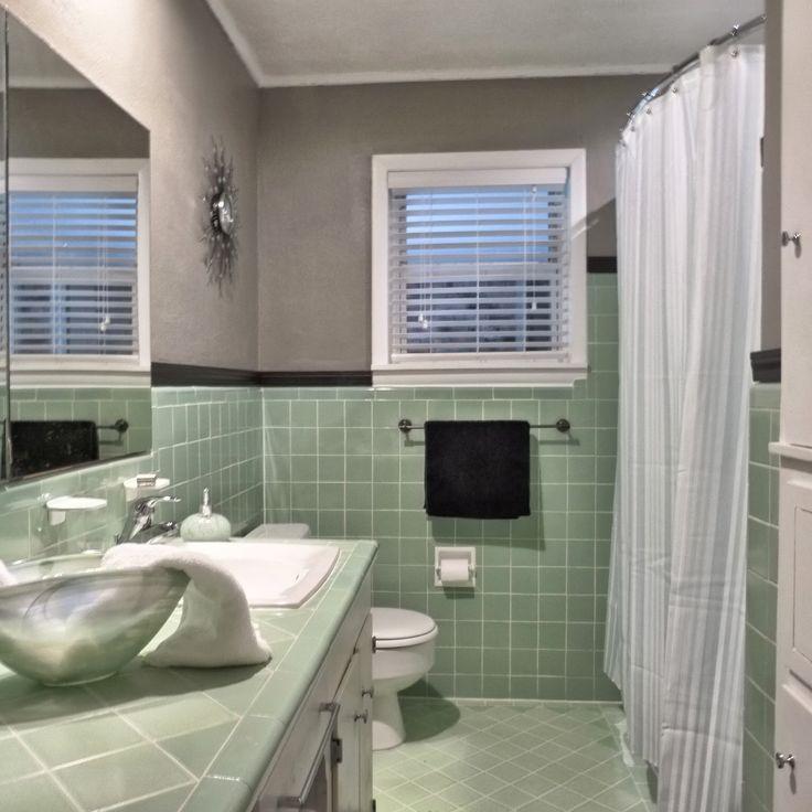 Green Tile Bathroom, Green Bathroom