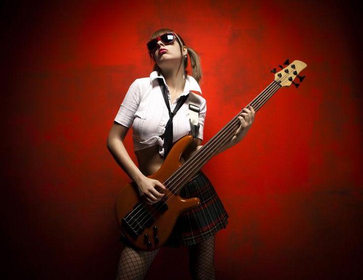 sexy bass girl art