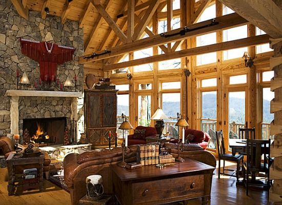 Luxury cabin interiors images Log homes interiors