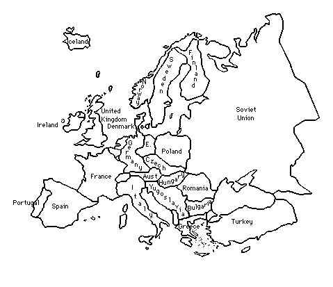 Outline of europe during world war 2 title of lesson an for Cold war coloring pages
