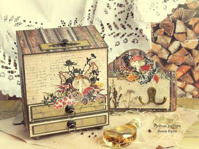"""C.h.e.a.p.-art: Вдохновение от ДК. Анна Куля: кухонный набор """"По грибы, по ягоды"""""""