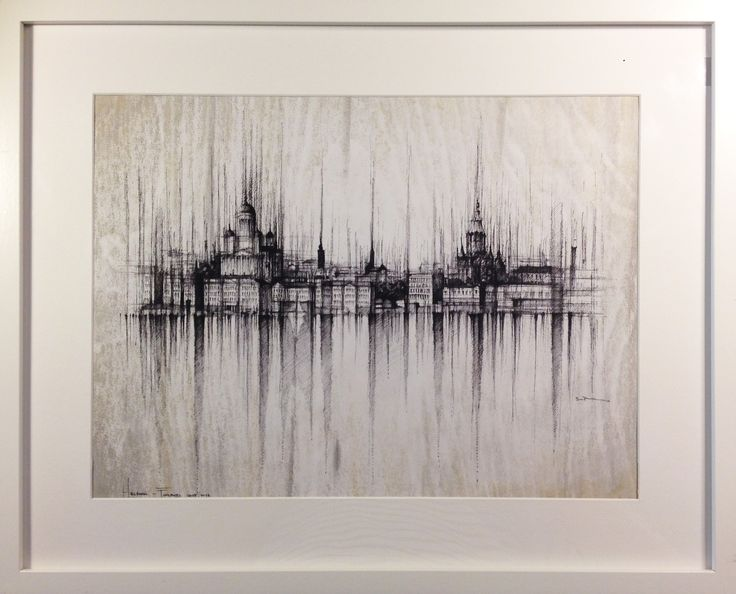 HELSINKI - FINLAND Drawing on paper, 40x30cm, framed 55x45cm,ink and water © Pavel Filgas 2016