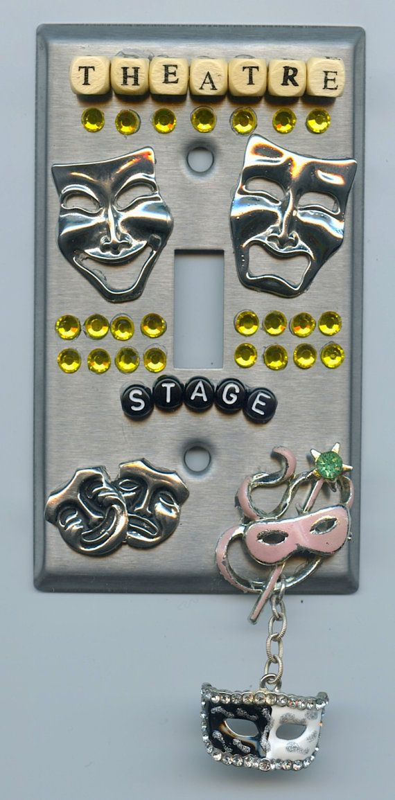Theatre New York Broadway Stage Theme Light Switch Cover on Etsy, $25.00 I want this for my room