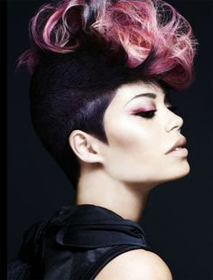 Pink Hair Color. Matt Clements