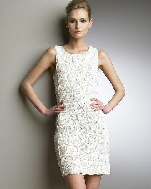 Платье крючком от Oscar de la Renta с рисунком из... / Рукоделие