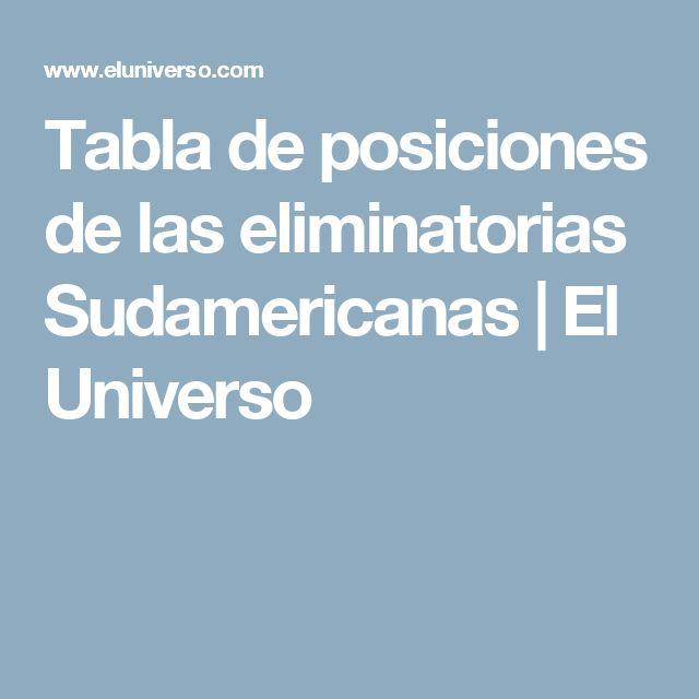 Tabla de posiciones de las eliminatorias Sudamericanas | El Universo