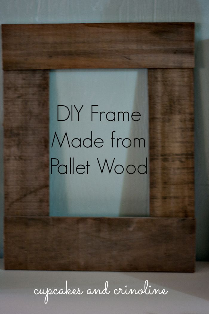 Pallet Picture Frames With Glass
