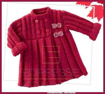 Озорные петельки: Пальто для девочки