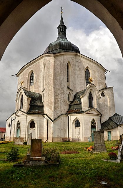 The Pilgrimage Church of St John of Nepomuk at Zelená Hora (Gruenberg) is a religious building in Žďár nad Sázavou, Czech Republic