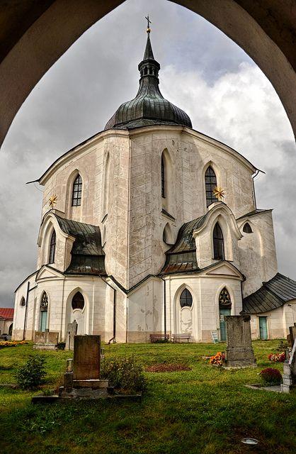 The Pilgrimage Church of St John of Nepomuk at Zelená Hora (Gruenberg) is a religious building in Žďár nad Sázavou, Czech Republic