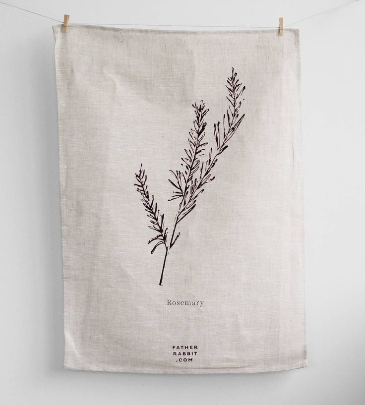 Father Rabbit | Rosemary Tea Towel | Natural
