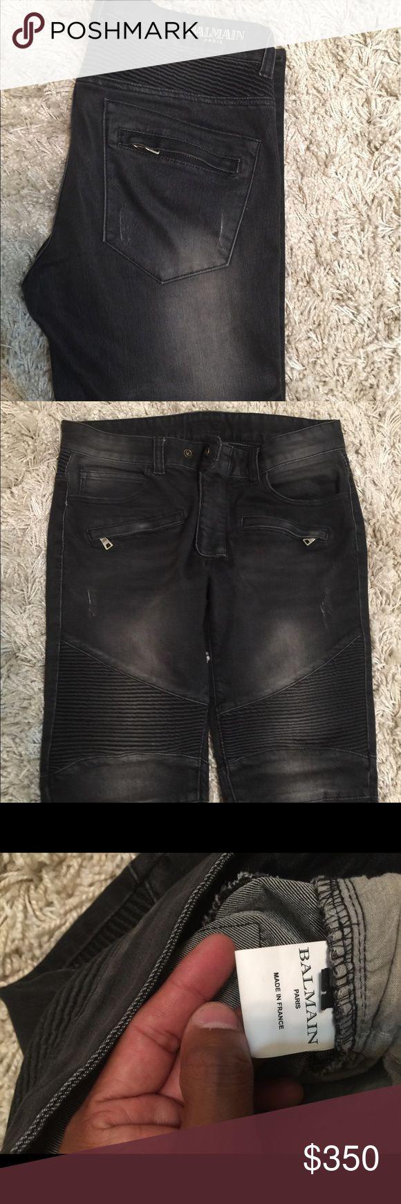Amazing balmain jeans P A Y  P A L Size 32-33 amazing balmain Jean on sale worn few times- only p a y p a l Balmain Jeans Slim Straight