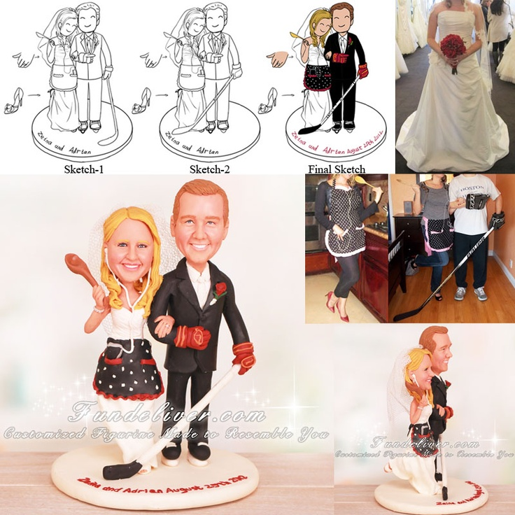 hockey player wedding cake topper 189 best and wedding cake toppers images on 15259