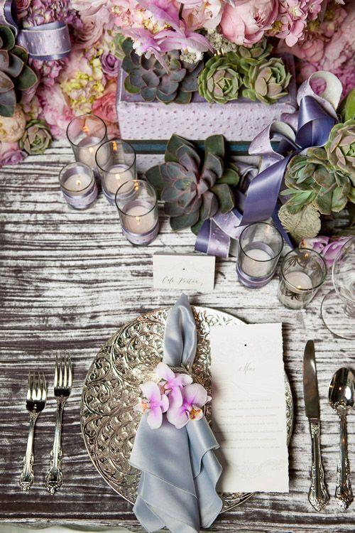 Elegant pink, lavender and silver