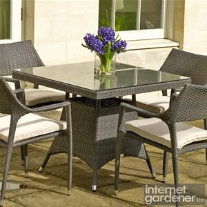 Bramblecrest Rio 90cm Square Rattan Garden Table