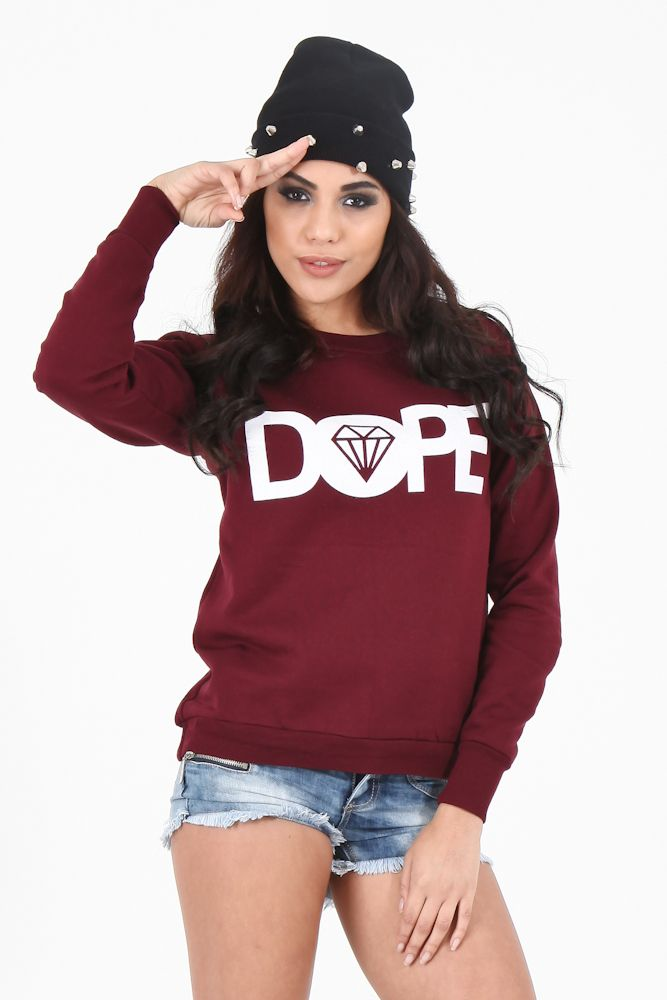 dope+Outfits+for+Women+ | Wine Dope Sweater | Dope Sweaters For Women | OMG Fashion