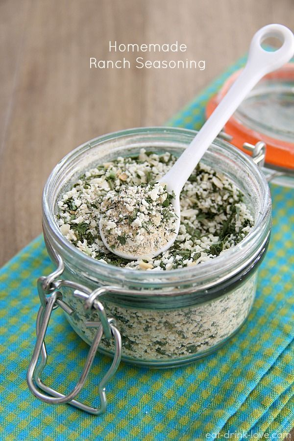 Homemade Ranch Seasoning. No more mounds of salt and artificial stabilizer like the packets.