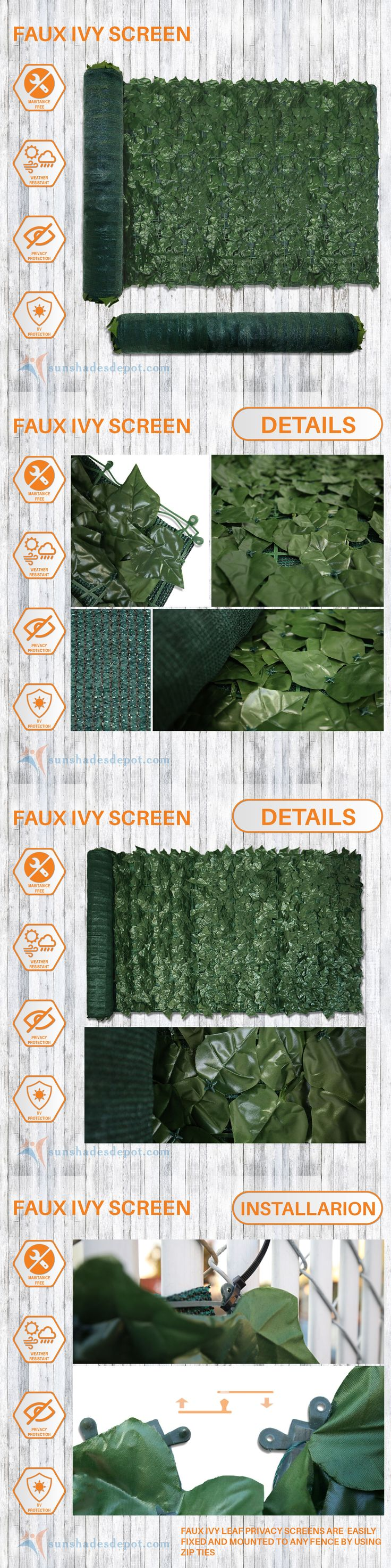 Privacy screen for chain link fence ebay - Fence Panels 139946 Artificial Green Ivy Leaf Privacy Fence Screen Decoration Panels Wall Cover Gate