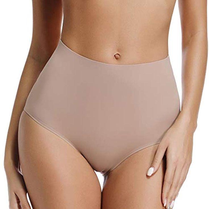WOWENY Nahtlos Unterhosen Damen Mittler Hohe Taille Stark Elastisch Slips Pantie…