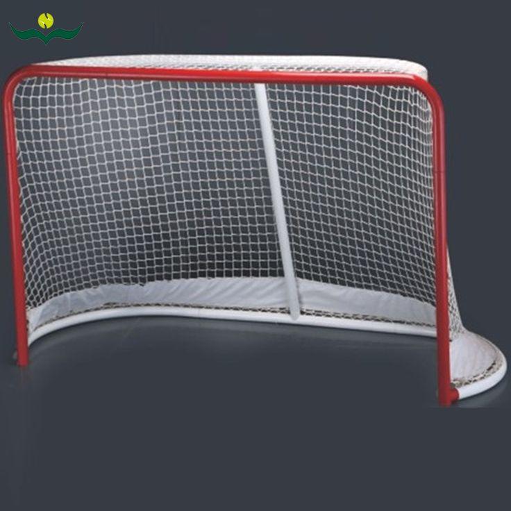 """Tige wujifeng glace arrondi objectif 4mm net 72 """"large * 48"""" haute * 34 """"profonde 16.55 kg but de hockey #161122_w68"""