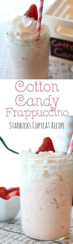 This Starbucks Copycat Cotton Candy Frappuccino recipe is easy to make at home and just as good at a fraction of the price! A perfect blend of raspberry and vanilla syrup for a delicious summer drink. (No coffee added so it's a great dessert drink for kid
