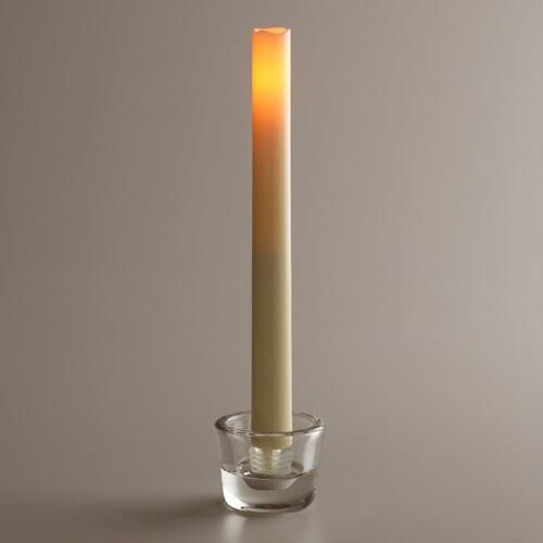 One of my favorite discoveries at WorldMarket.com: LED Taper Candles, 2-Pack