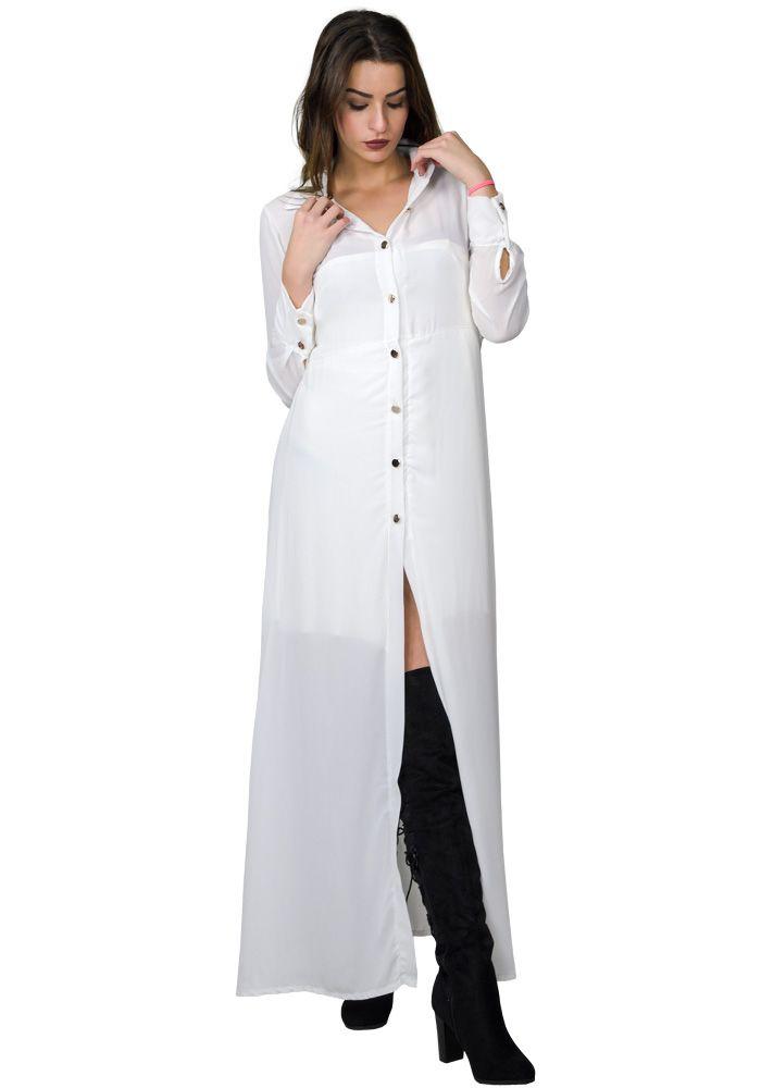 a51f8577ab01 Φόρεμα maxi πουκάμισο | DRESS | Dresses, Shirt Dress και Shirts