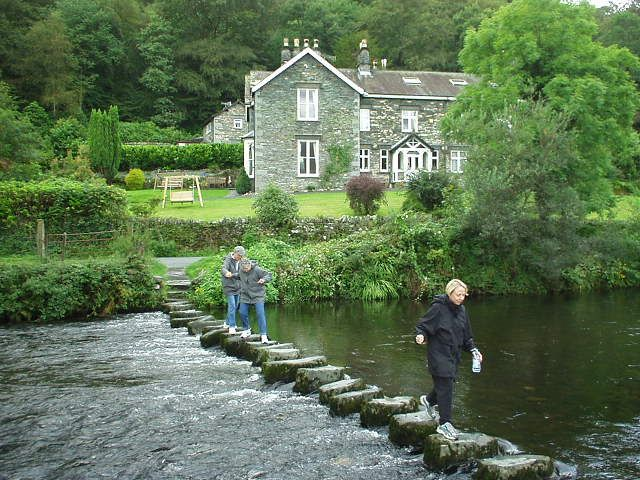 lake district, england    Stepping Stones at Rydal - bliss!