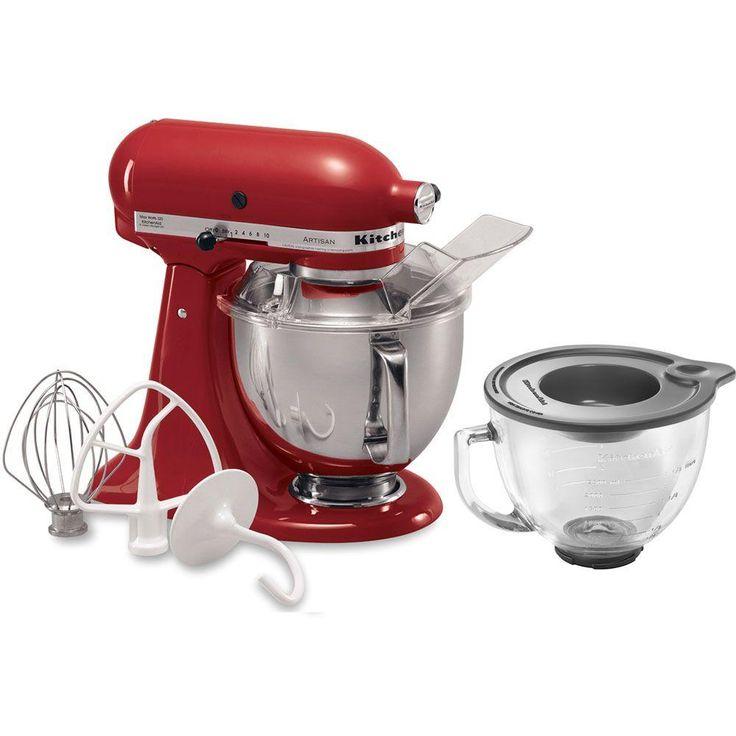 Kitchenaid artisan 5 qt 10speed empire red stand mixer