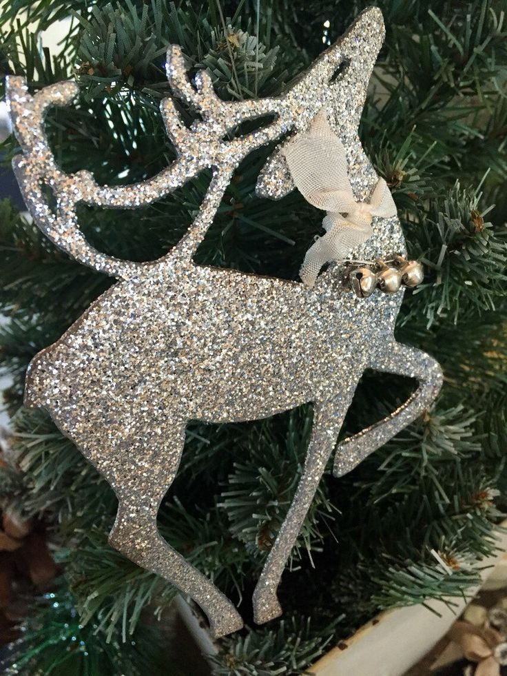 A personal favorite from my Etsy shop https://www.etsy.com/listing/258225574/prancing-reindeer-glittered-ornaments