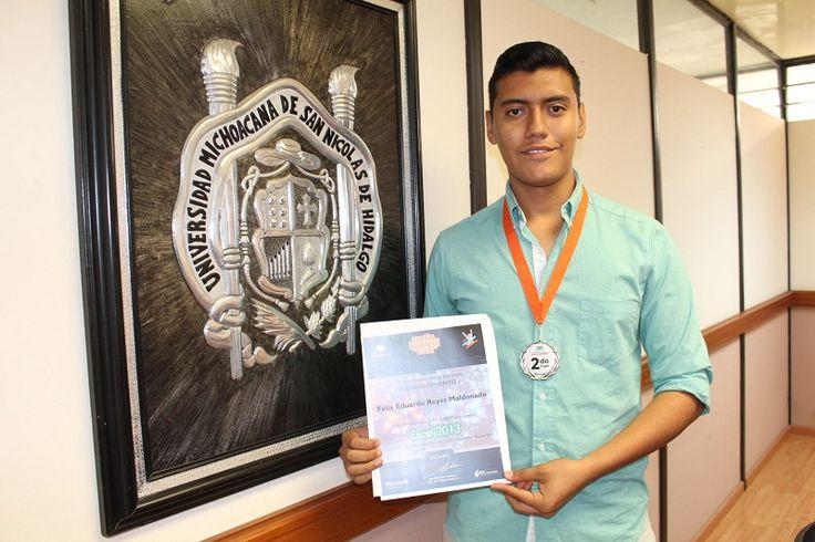 Félix Eduardo Reyes Maldonado, representante de la Facultad de Ingeniería Eléctrica en la UMSNH, destacó entre 50 competidores ubicados en la región Centro-Sur, en las tres etapas de selección – ...