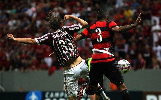 Fluminense e Flamengo no Mané Garrincha, pelo Campeonato Carioca de 2016, em Brasília. (Foto: Nelson Perez / Fluminense F.C.)