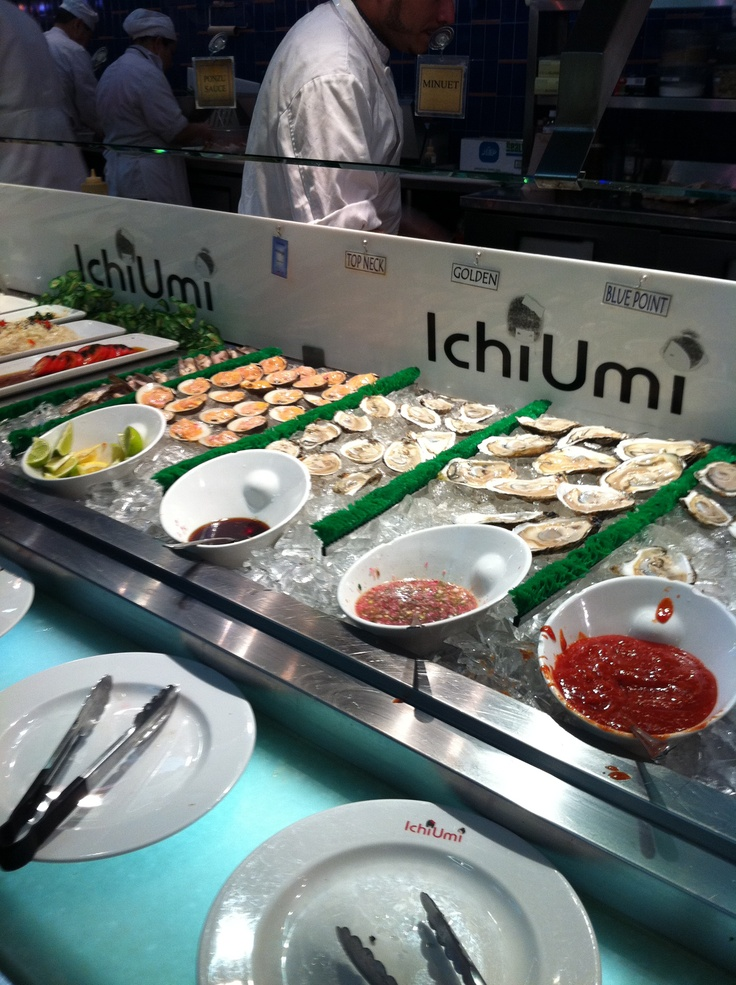 Ichi Umi is my favourite place for sushi in NYC! You won't believe it.....meters and meters of sushi, sashimi, but even oysters, dumplings, tempura, soups.....always so crowded!!! Go early or you will have to wait long time and remember: at 10.00 p.m. they close! 6 East 32 NYC