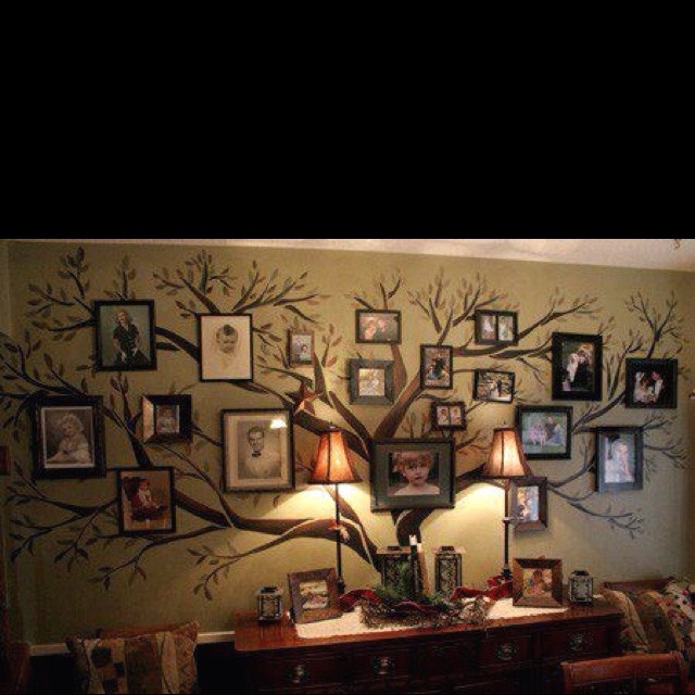 A friend posted this on FB love it Family Pictures, Decor Ideas, Family Trees, Families Trees Wall, Family Photos, Living Room, Family Tree Wall, Families Photos, Cool Ideas