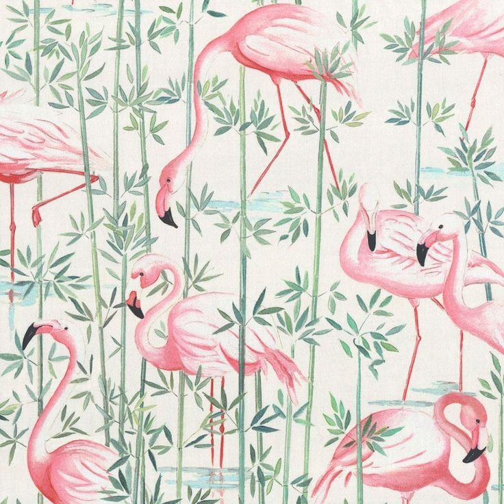 Tissu ameublement flamants roses projets r novation for Tissus ameublement velours motif