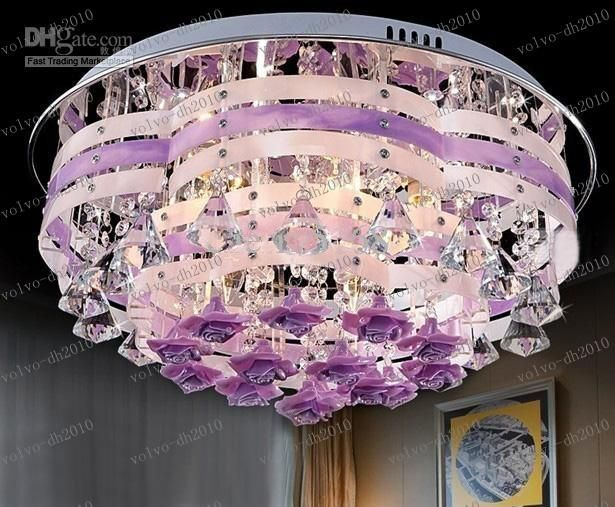 109 best lighting images on pinterest chandeliers lamps and purple ceiling lights llfa3431 k9 crystal pink purple ceiling light modern fashion romantic aloadofball Images
