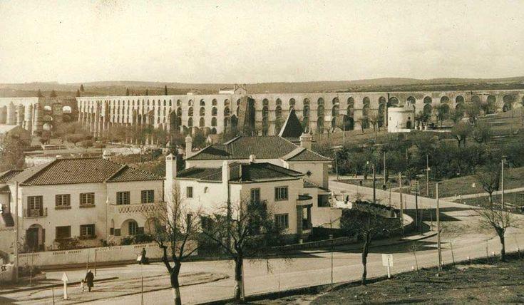 Avenida de Badajoz e Aqueduto   Portal Elvasnews