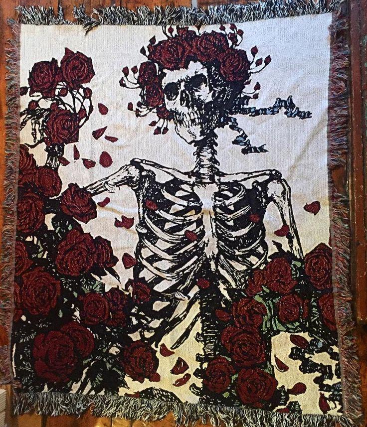 Image of Roses Blanket Woven blanket, Bohemian rug, Blanket