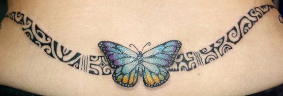 Polynesian Tattoo for Women and Models I really like the butterfly. Not so sold…