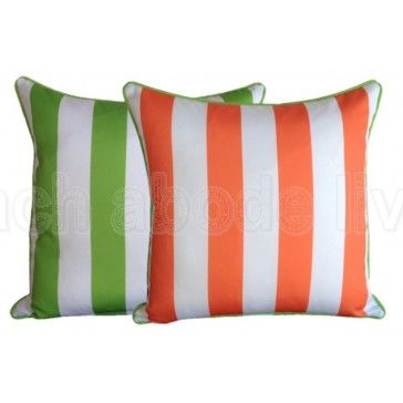 #Coastal #Lime #Green & #Orange #Classic #Stripe #Outdoor #reversible…
