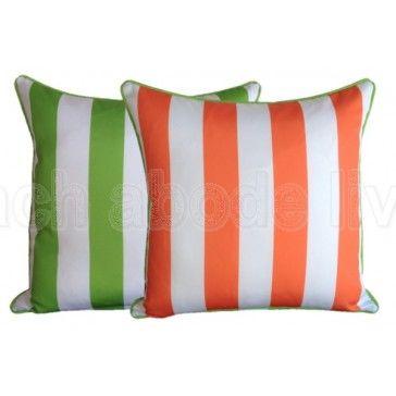 #Coastal #Lime #Green & #Orange #Classic #Stripe #Outdoor #reversible…$39.99