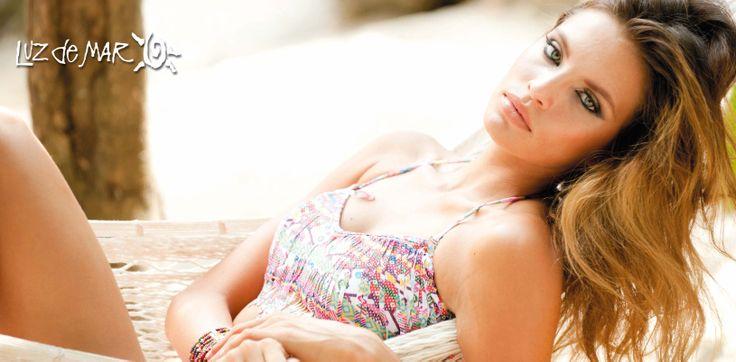 "Colección de trajes de baño 2015 de Luz de Mar ""Acqua"" con Gabriela Cruz en Tulum, México PH Chino Moro #LuzdeMar2015 #Bikinis #Trajesdebano #moda #verano"