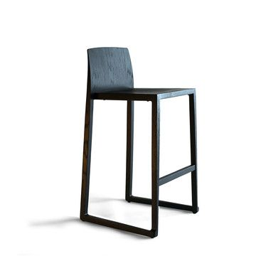 I wonder how hard it would be to build this.  My design inspiration: Hanna Barstool Black on Fab.