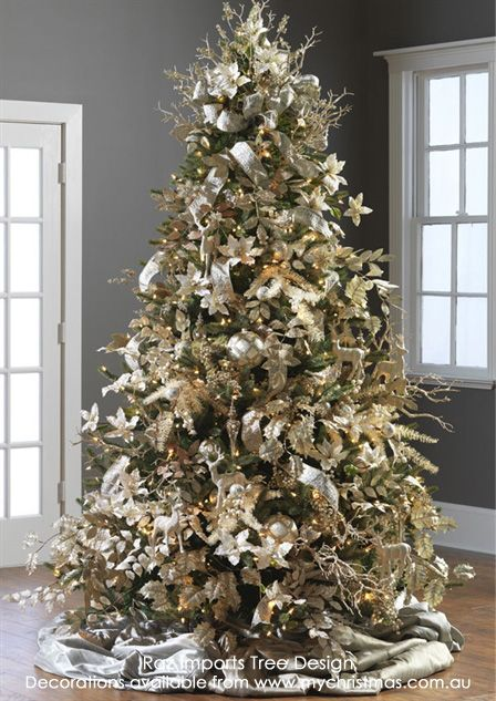 44 Best Gold And Cream Christmas Images On Pinterest