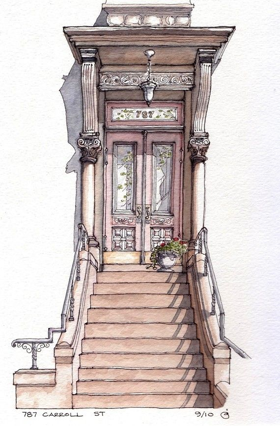 Doorway/ entry architecture print $14