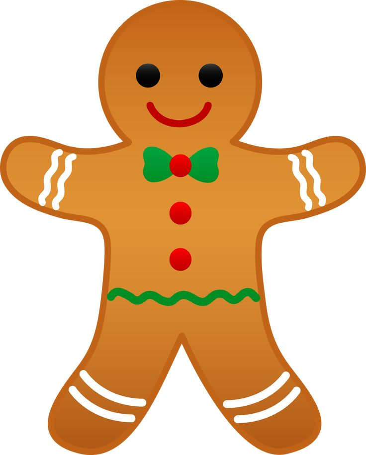 Free Clip Art | Christmas Gingerbread Man - Free Clip Art
