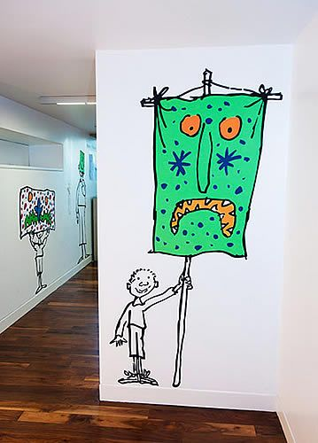 Quentin Blake Mural Unveiled at the Unicorn Theatre – visitlondon.com blog