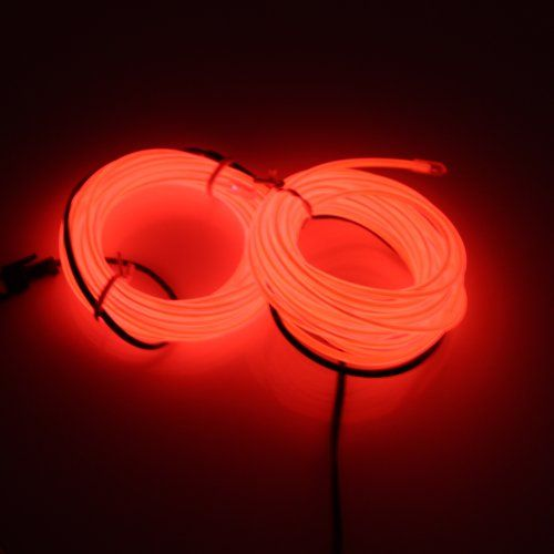 Lerway 3M Rope LED Light Strip EL Wire Cable for Festival Day Thanksgiving Day Christmas Day New Year Birthday Party Light (Red) Lerway