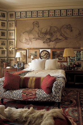 Robin and Lucy Birleys bedroom, London. #Tuscan #Home #Design - Find More Decor Ideas at: http://www.IrvineHomeBlog.com/HomeDecor/ ༺༺ ℭƘ ༻༻ and Pinterest Boards - Christina Khandan - Irvine California