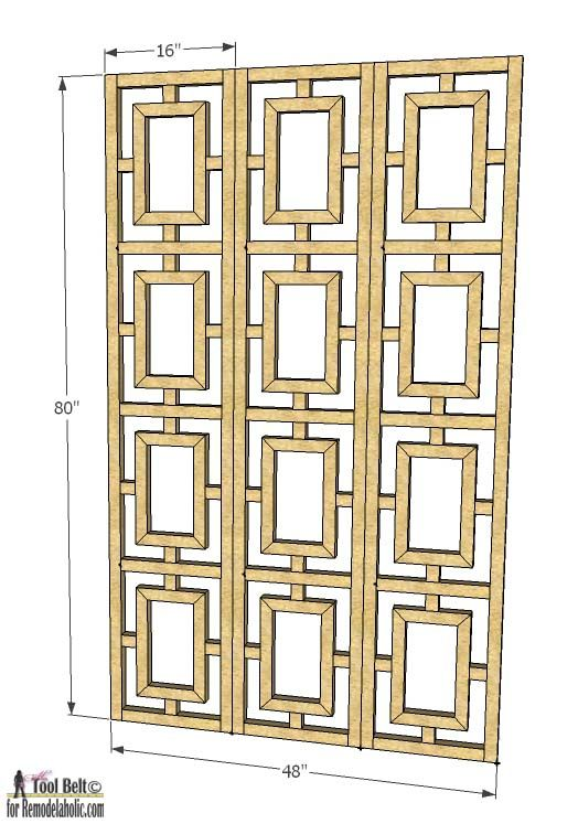 Build Your Own Room Divider Screen Woodworking Projects